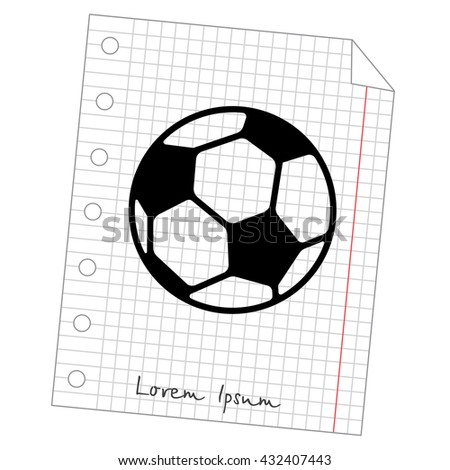Web icon. Football