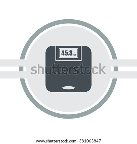 Web icon - scales, weighing, weight.