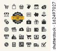 Web icon set - shopping, money, finance - stock vector