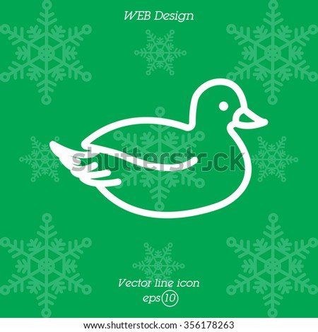 Web line icon. Duck