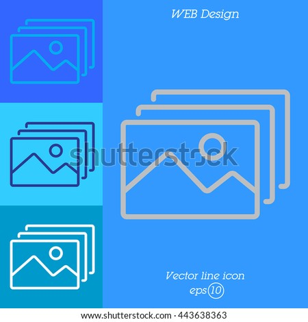 Web line icon. Gallery, design for website