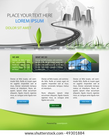 web page design suitable for business homepage