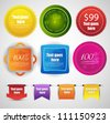web sale badges/banner and stickers - stock vector