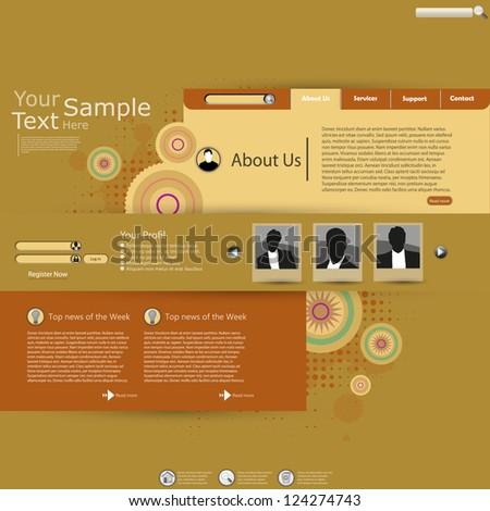 content marketing slide stock vector 561913525