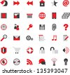 web site icons big vector set - stock photo