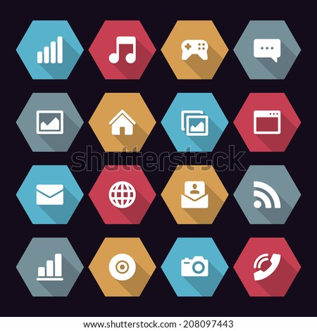 Web site icons set  Vector design elements flat style for design.