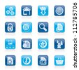Website and internet icons - vector icon set - stock vector
