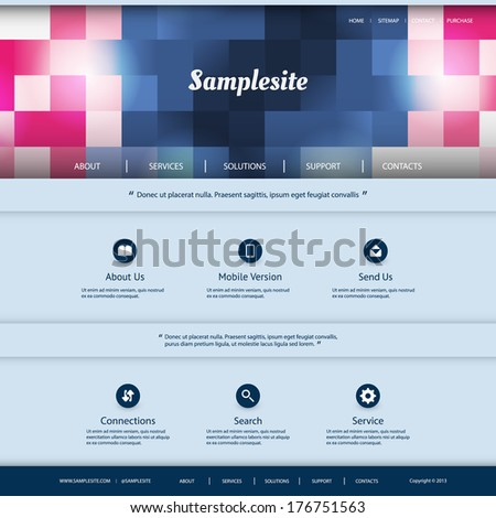 Website Design with Checkered Pattern