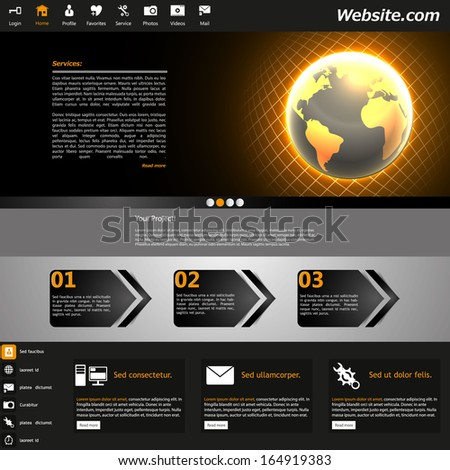 Website Template /Dark Shiny Business Theme/