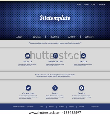 Website Template with Abstract Header Design - Dotted