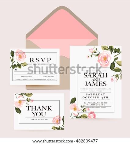 Wedding Invitation Card Suite Daisy Flower Vector 223110889 – Designing an Invitation Card