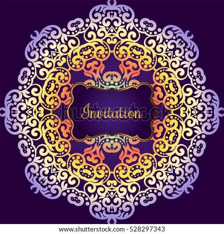 Wedding invitation delicate swirl mandala pattern stock wedding invitation delicate swirl mandala pattern vector background card or invitation vintage stopboris Choice Image