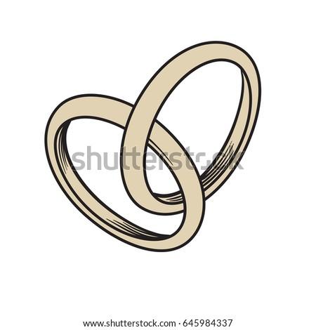 Wedding Rings Outline Icon Modern Minimal Stock Vector 299370998