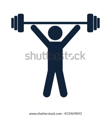 weightlifter vector icon