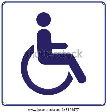 Wheelchair Handicap Sign On Background White