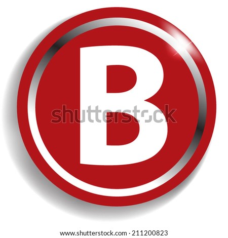 white alphabet on red background