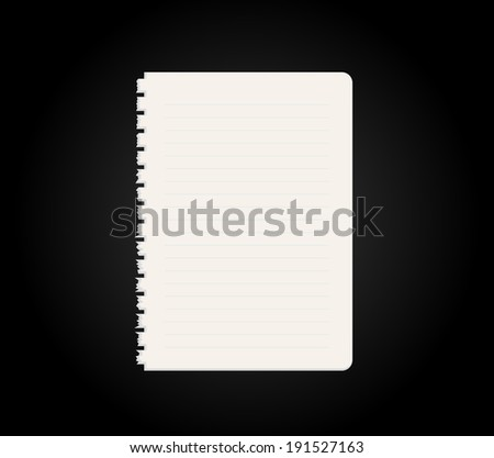 Blank Diary Notebook Vector Vector 53678869 Shutterstock – Blank Line Paper