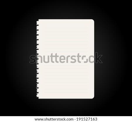 Blank Diary Notebook Vector Vector 53678869 Shutterstock – Blank Line Paper