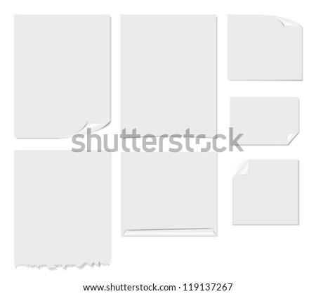 White blank page vector illustration