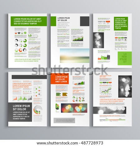 Collection Roll Banner Design Stand Template Stock Vector