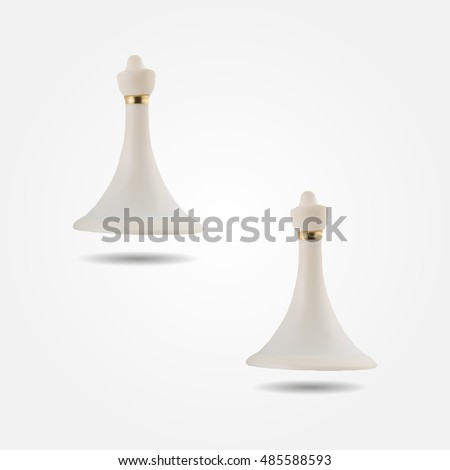 White chess figure pawn low and high resolution triangle mesh realistic vector eps10