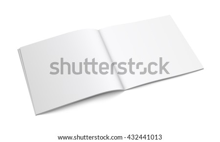 White Empty Brochure