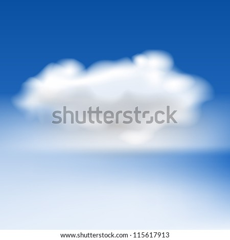 White fluffy cloud and fog, eps10 vector