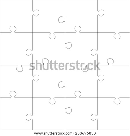 25 jigsaw puzzle blank template cutting stock vector 169044335