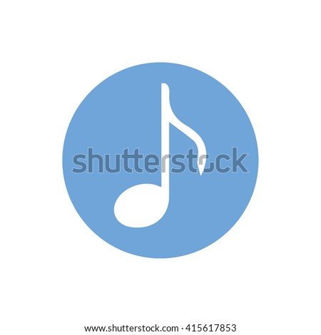 White music note icon