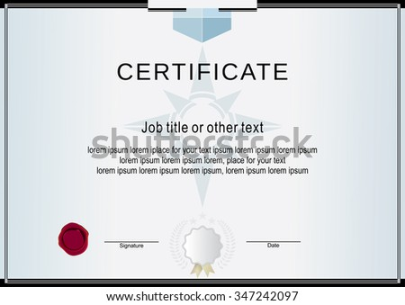 Certificate Recognition Frame Design Template Layout Vector – Official Certificate Template