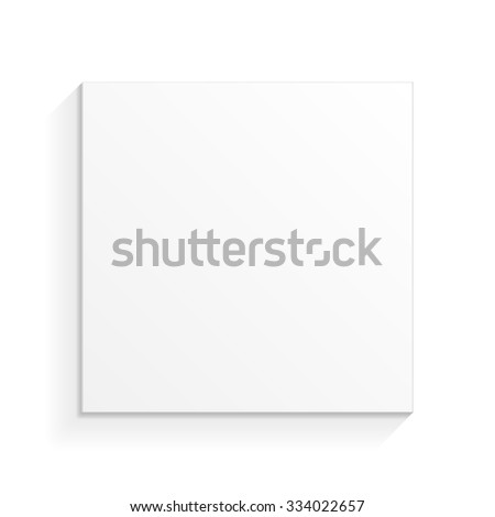 White Product Cardboard Package Box. Top View. Illustration Isolated On White Background. Mock Up Template Ready For Your Design. Vector EPS10