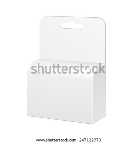White Product Package Box Illustration Isolated On White Background. Mock Up Template Ready For Your Design. Product Packing Vector EPS10. Isolated.