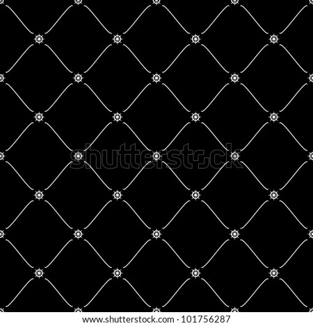 White seamless pattern with ship wheel symbol on black, 10eps.