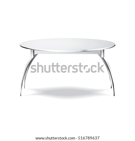 White Table. Platform. Stand. Template for Object. Presentation. Vector Illustration.