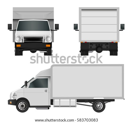 cargo truck delivery vehicle isolated on stockvektor 477206398 shutterstock. Black Bedroom Furniture Sets. Home Design Ideas