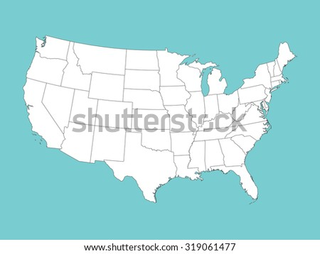 Superhigh Detail Us Map Outline Vector Stock Vector 795597883 - Us Map With States Outlined Vector