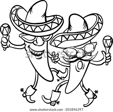 dancing taco coloring pages - photo#10