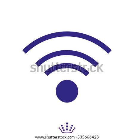 Wi fi, icon, vector illustration EPS 10
