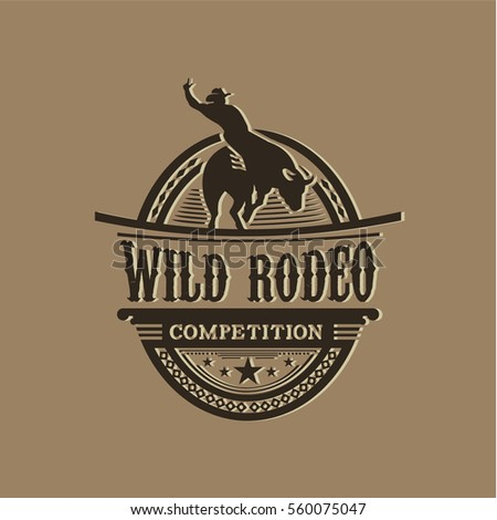 Wild Rodeo Competition Stock Vector 560075056 Shutterstock