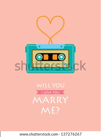 will you marry me cassette card