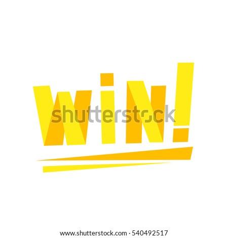Win Congratulations Sticker Confetti Design Template Stock