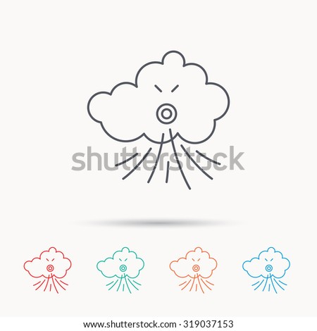 Weather Sun Snow Icons Wind Snowflake 513412444