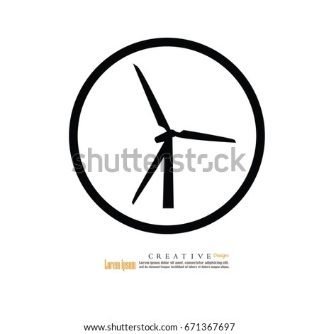 Wind Turbinevector Illustration Stock Vector 430482355 - Shutterstock