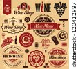 Wine labels collection - stock vector