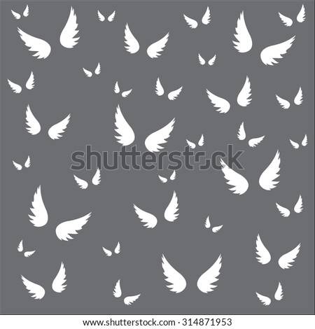 Wings pattern vector background designs