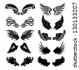 wings set in vector - stock