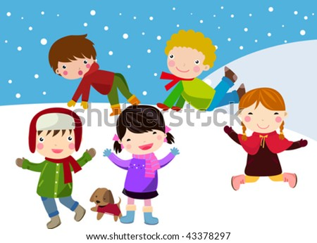 winter and children