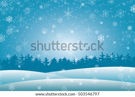 Winter background. Place for your text. Vector illustration