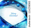 winter background with beautiful various snowflakes and christmas balls - stock