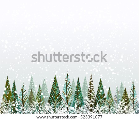 Winter forest-Christmas trees